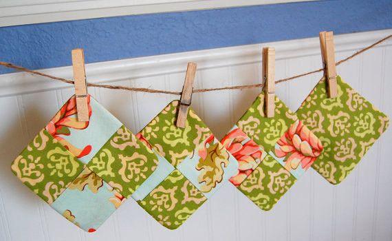 SALE Save 30% - Subic Bay Modern Fabric Coasters