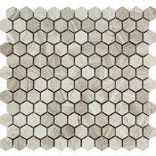 Malla piedra mármol beige 30X30 cm