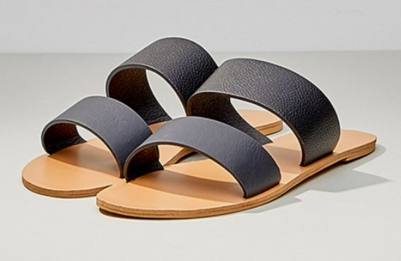 Cuban Sandal - Black Pebble