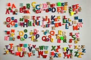 Mixed style letters miniature buttons, beads, charms for educational alphabet abc games