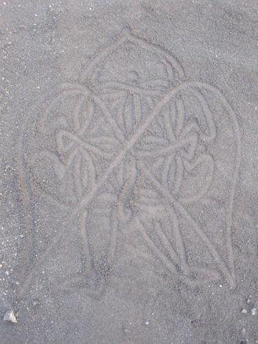 Far Flung Places : Sand Drawing Art. Ambrym Vanuatu