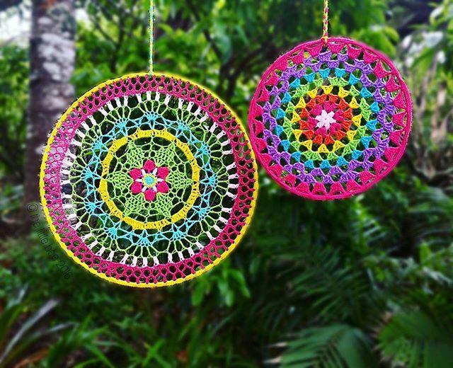 Crochet hoop mandalas by The Little Bee