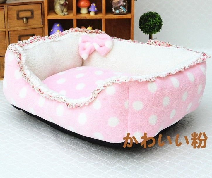 New Princess Soft&Warm Velvet Pet Dog Cat Sofa Bed House Kennel Pink/Blue/Purple #IMIDO