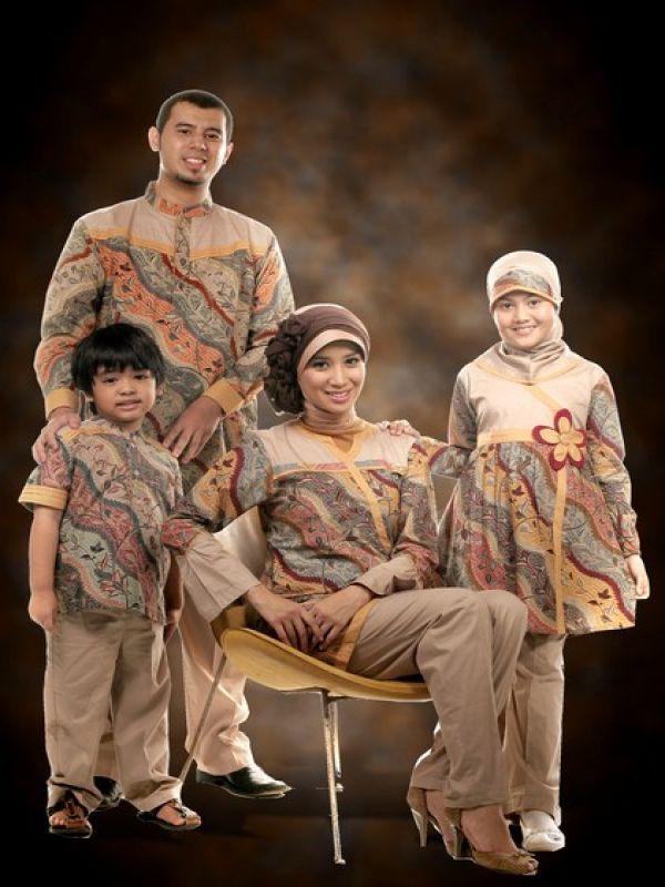 Model Baju Muslim Batik Couple Modern