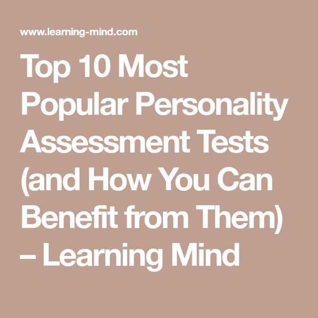 Top 10 Most Popular Personality Assessment Tests (and How You Can Benefit from Them) – Learning Mind