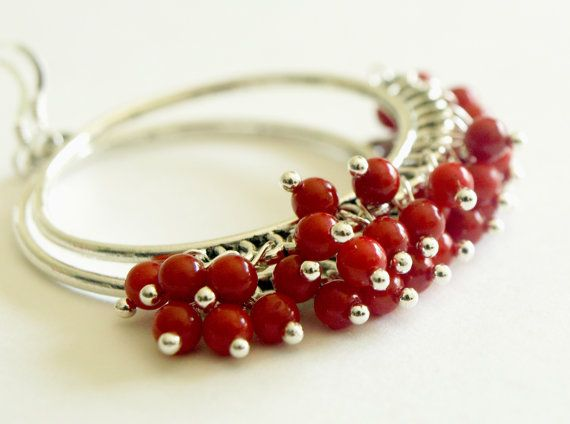Hey, I found this really awesome Etsy listing at https://www.etsy.com/listing/105146630/chandeleir-hoop-earrings-red-coral