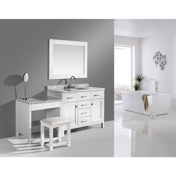 Design Element London 72 inch Single Sink White Vanity Set with Makeup  Table  and. 17 Best ideas about White Vanity Set on Pinterest   Cosmetic