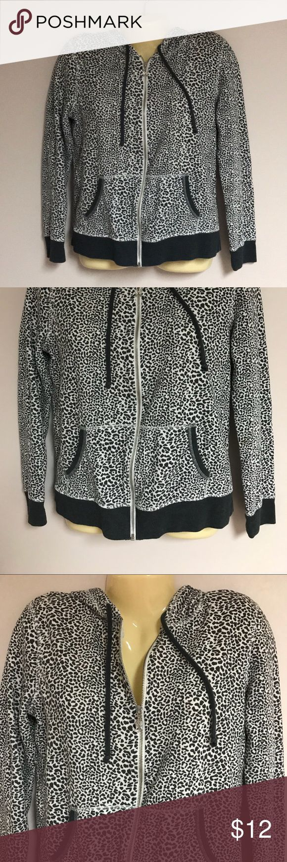 VICTORIA'S SECRET Zip Up Animal Print Hoodie VICTORIA'S SECRET Zip Up Animal Print Hoodie. Size medium.   Bundle any two items and save 20%. Bundling saves on shipping too. Victoria's Secret Jackets & Coats