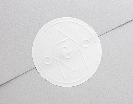 Identity and blind embossed sticker for Agent Molly & Co designed by 25AH.