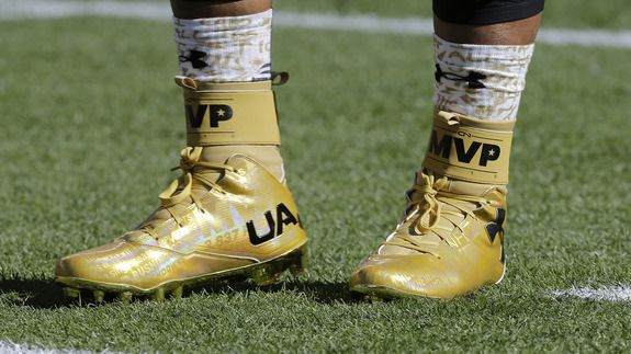 Super Bowl 50: Cam Newton's gold 'MVP' cleats win the pre-game