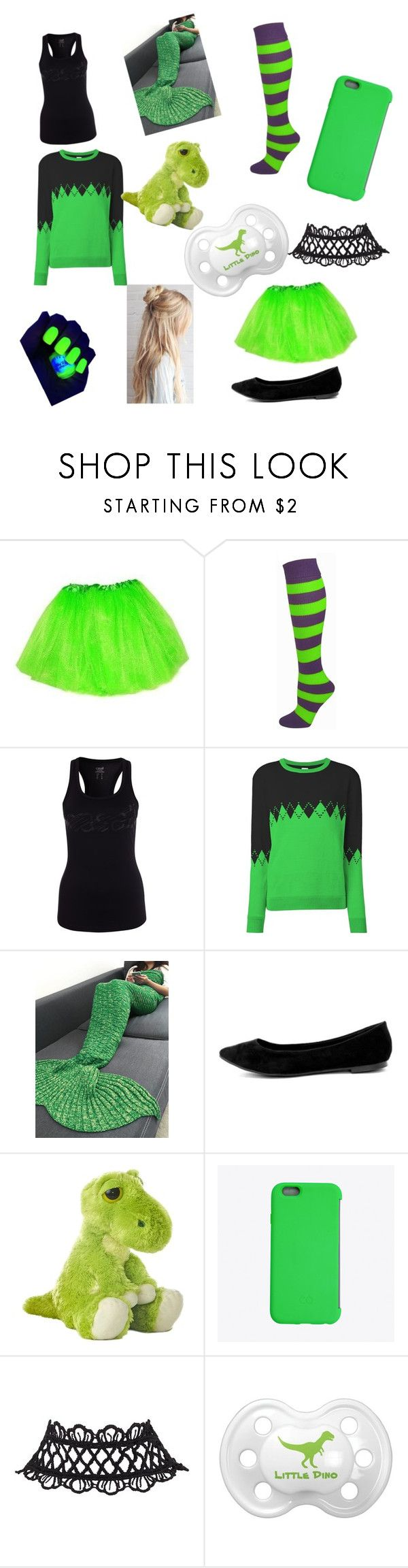 """""""Lime Green and Black Little Outfit """" by daddyswitchylittle ❤ liked on Polyvore featuring Opening Ceremony, Breckelle's and C6"""