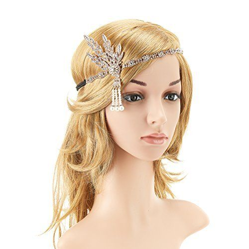 Venusvi Silvery Wedding Hair Combs with Bead and Rhinestones - Bridal Headpiece for Bridesmaids(silver(silvery)