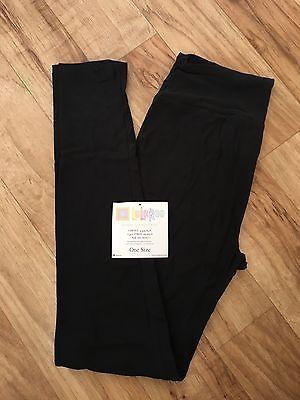 LuLaRoe-TC-Leggings-NWT-Black-Solid-Color-Tall-and-Curvy-Leggings