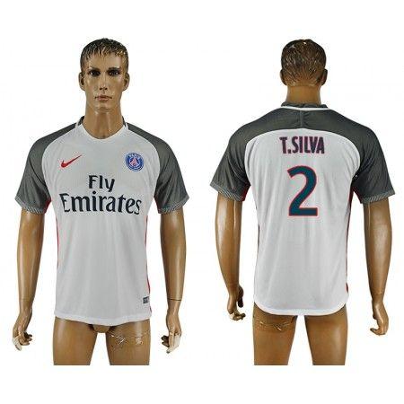 PSG 16-17 #Thiago Silva 2 TRödjeställ Kortärmad,259,28KR,shirtshopservice@gmail.com