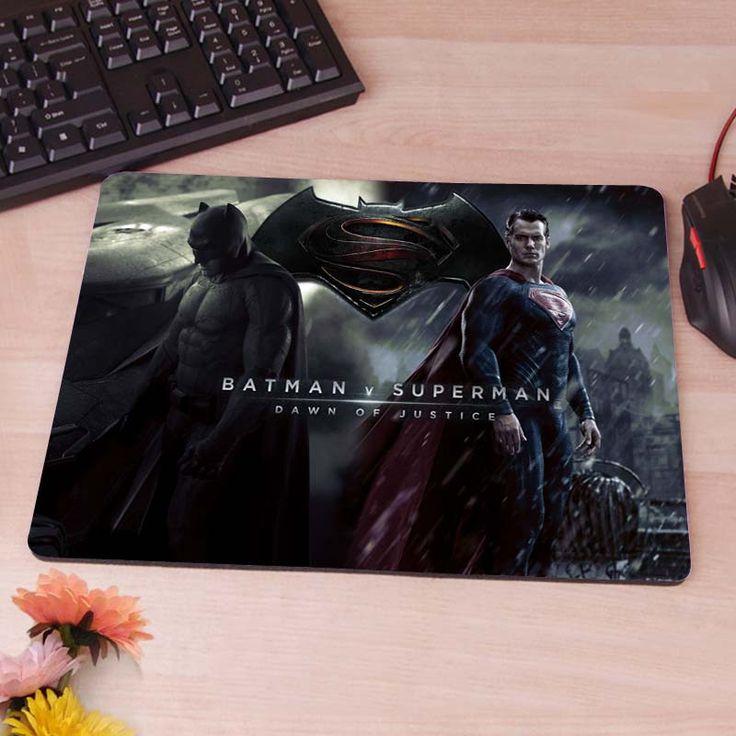 Superman vs Batman Mousepad Mouse Pad pc mac laptop notebook usb hwd Gamer anti slip