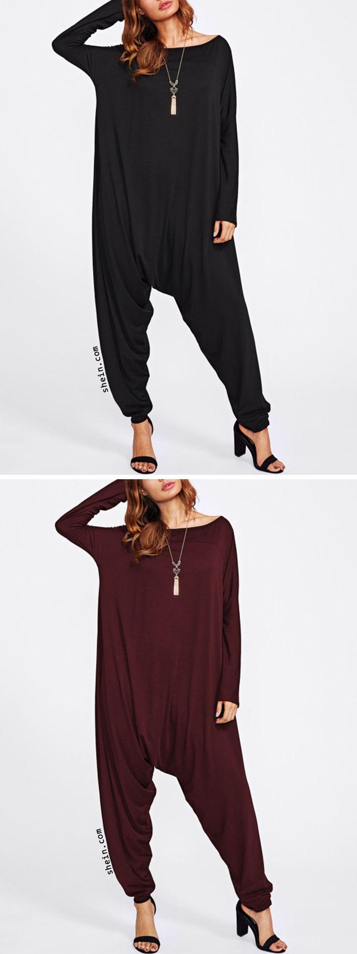 Drop Crotch Jersey Jumpsuit