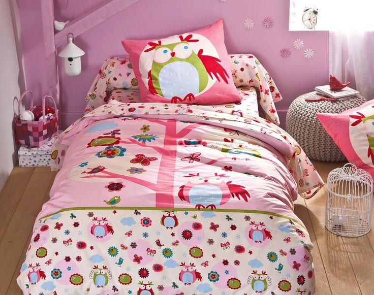 linge de lit hibou becquet chambre des filles pinterest sons lights and articles. Black Bedroom Furniture Sets. Home Design Ideas