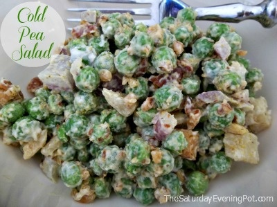 This pea salad #recipe from Chef John and Anne is POWER PACKED with 3 SUPERFOODS!  Delicious too.