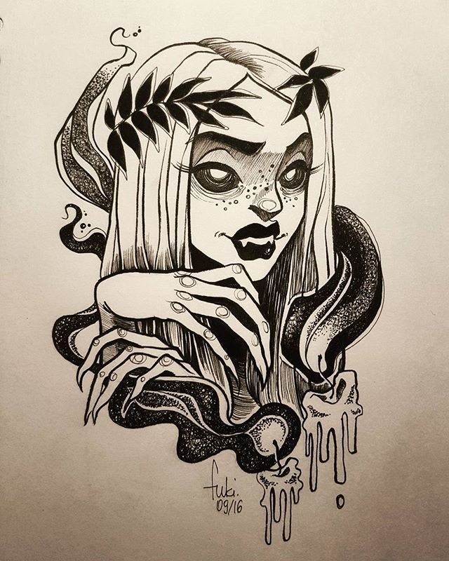 ️️ another tattoo flash design