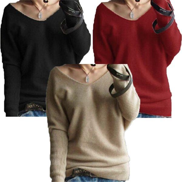 Barato 2015 Zanzea New malha suéter de Cashmere mulheres Pullovers básico Outerwear camisola de manga comprida feminina Femininas roupas 3 Color S XXL, Compro Qualidade Pulôvers diretamente de fornecedores da China: Sizes S-4XL 2015 Hot Sale Zanzea Fashion OL Women Ladies Stripe Lantern Long Sleeve Turtleneck Shirts Blouses Black/Whit