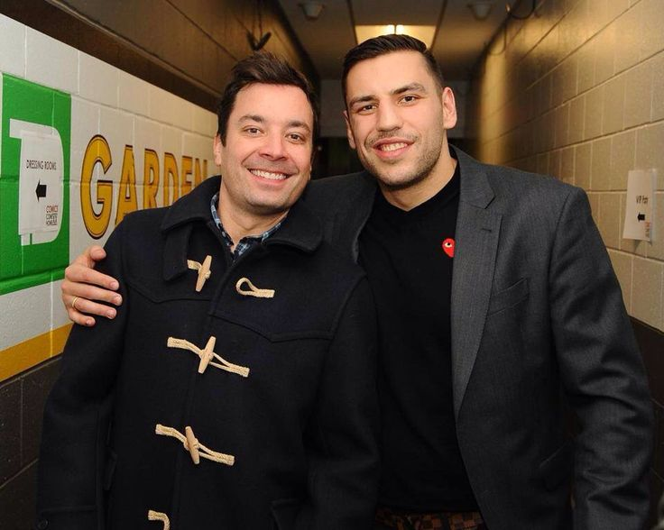 Jimmy Fallon and Milan Lucic