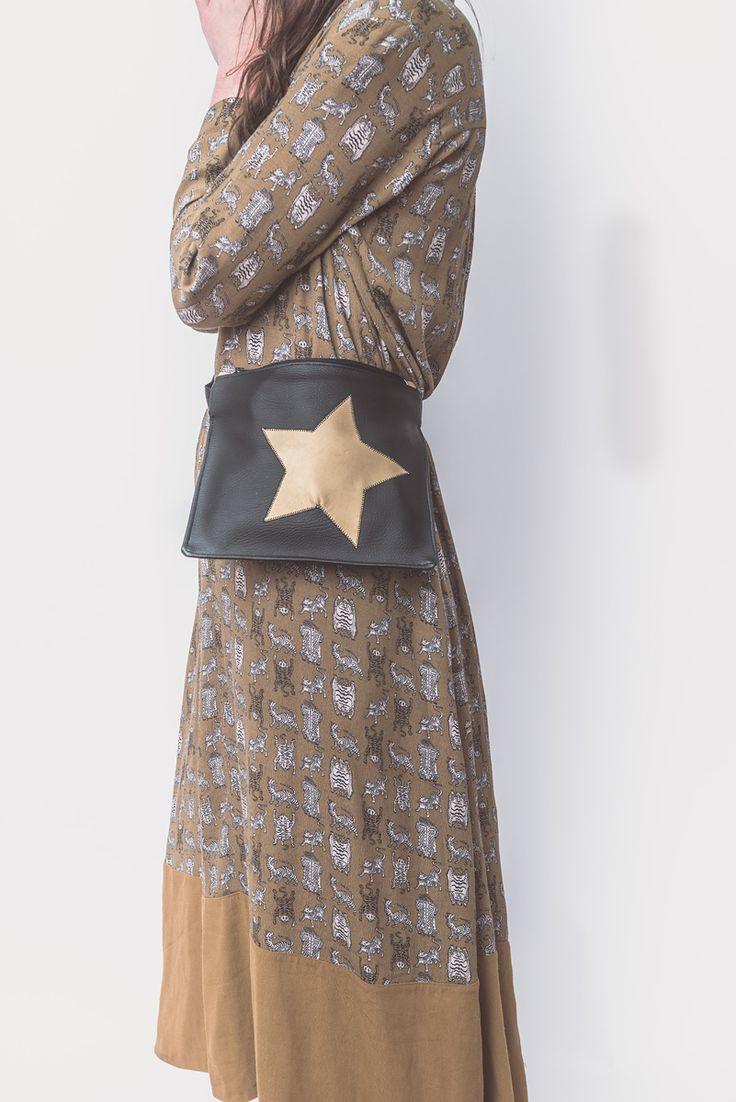 Black bum bag with gold design for your daily essentials  #bumbag #fannypack #waistbag #blackbag €55