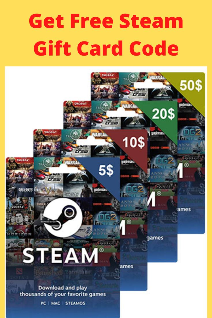 Pin on steam free gift card