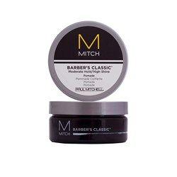 A Pomada modeladora Mitch Barber's Classic para cabelo masculino é ideal para penteados clássicos e casuais. Deixa um aspecto natural e contém ingredientes que não agridem os cabelos. Disponível na Shop4Men.com.br