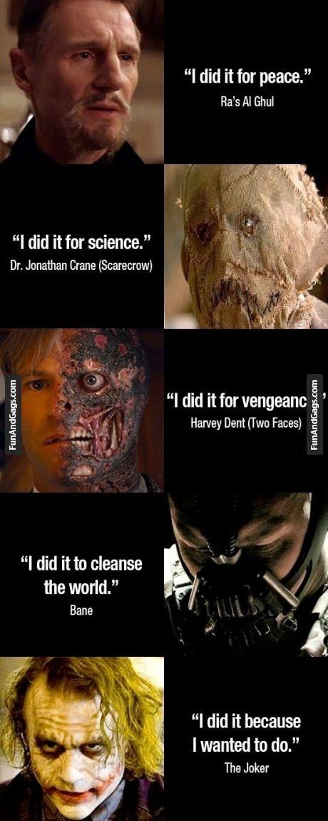 Even though he's a villian. . Joker still has a good point :)