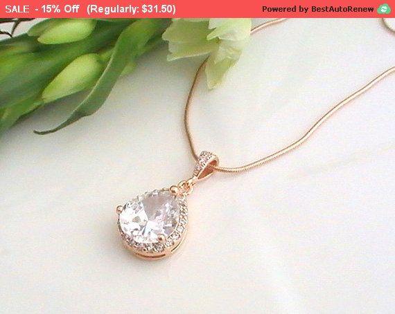 Gioielli da sposa collana di oro rosa Idea regalo di Crystalshadow