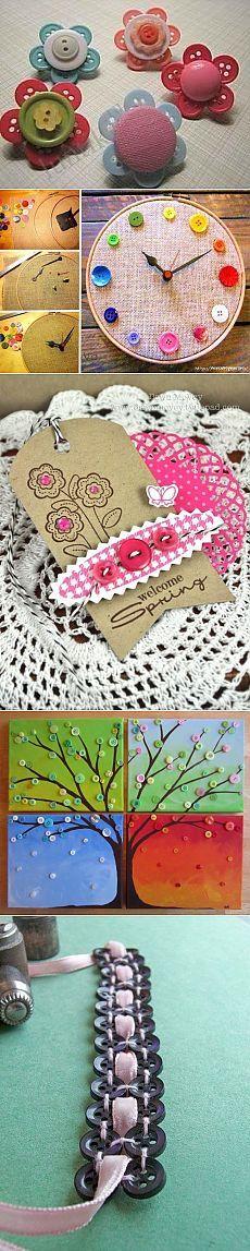 Детские поделки - Цветы из пуговиц своими руками - оригинальное украшение для детской одежды или сумочки / Детское творчество - аппликации, поделки из цветной бумаги, картона, теста, пластилина, пластиковых бутылок для детей / Лунтики. Развиваем детей. Творчество и игрушки