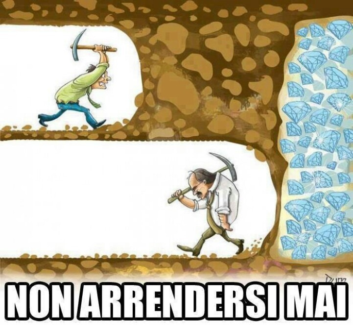 ~The Caption in Italian says don't ever give up....~