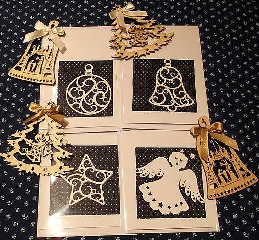 Pohladnicovo / Vianočná pohľadnica s papierovím výrezom