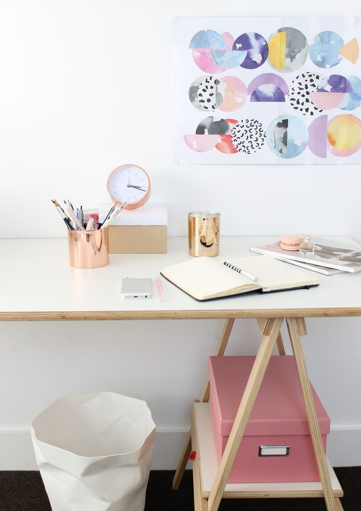Gorgeous Minimal Work Space Including Our Karlsson Desk Clock U0026 Inspiration  Candle