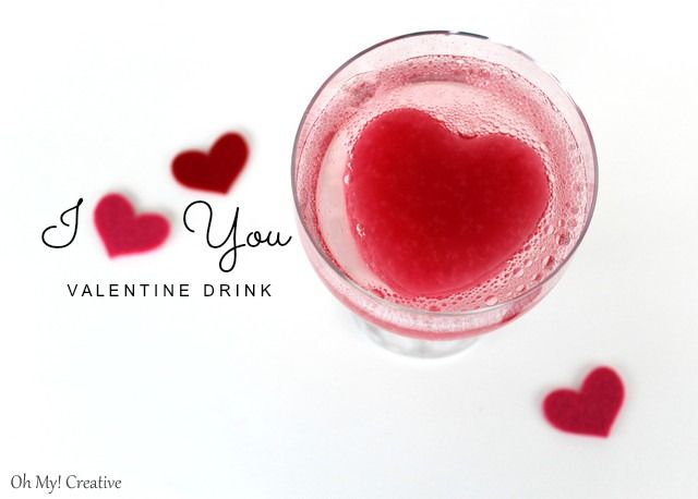 I Heart You Valentine's day drink @ohmycreative