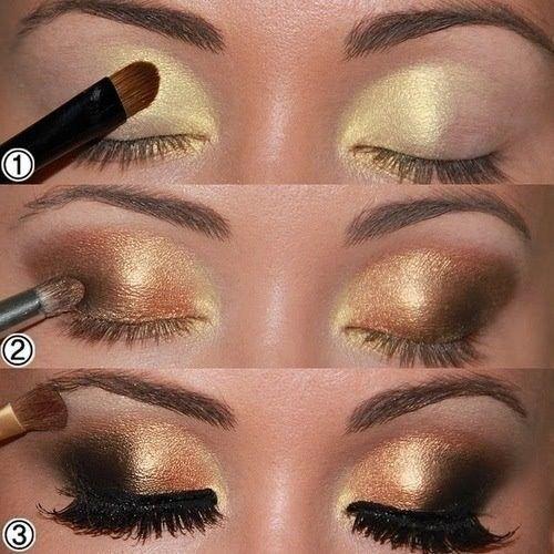 Gold & Black Makeup Pin It