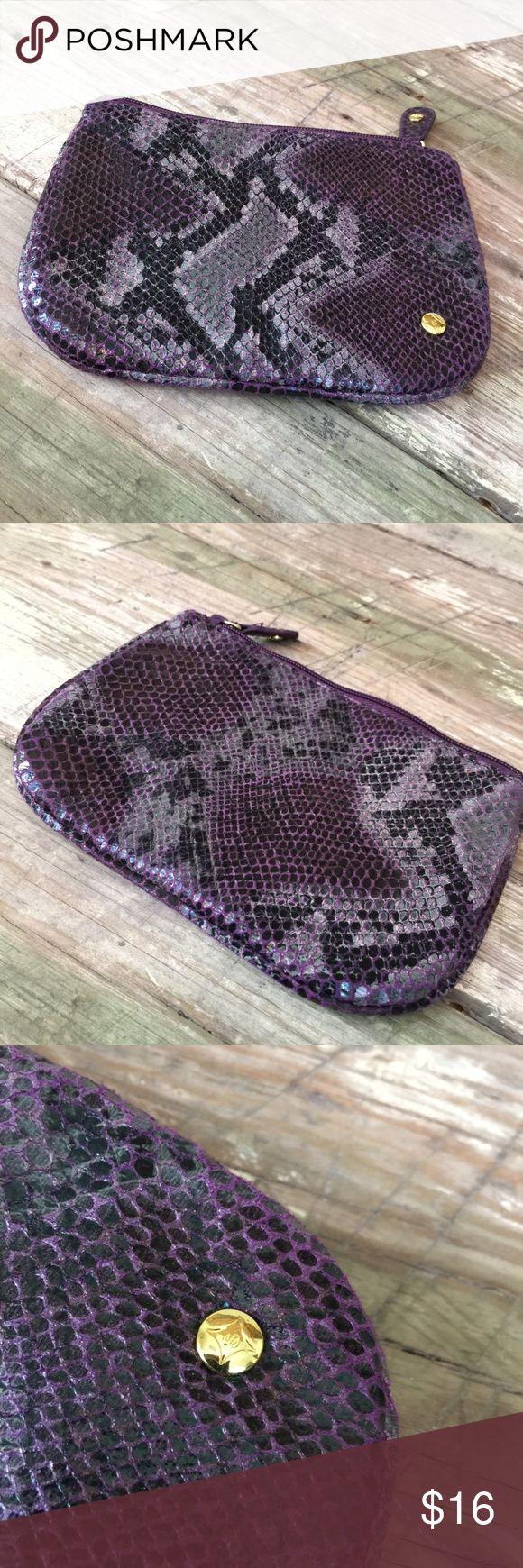 Stephanie Johnson snake print cosmetic bag pouch