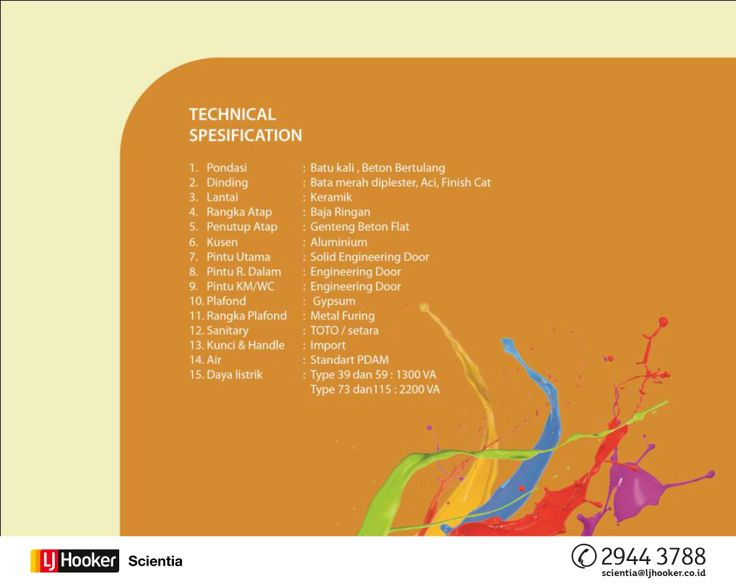 TECHNICAL SPECIFICATION - North Pelican @ Serpong Lagoon