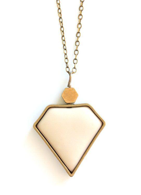 Beige Diamond Pendant www.cloudninecreative.co.nz