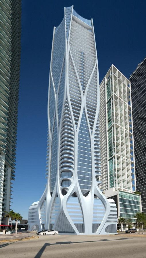 One Thousand Museum Tower, Miami, Zaha Hadid Architects with ODP Architects and DeSimone Consulting Engineers. (Courtesy DeSimone Consulting Engineers)