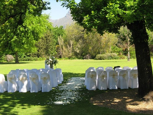The Manor House Lawns can be utilized for your wedding ceremony  http://www.lanzerac.co.za/venues-facilities-wed/