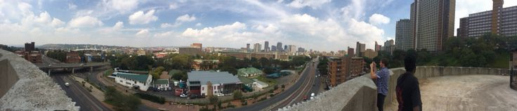 Panorama view outside of ponte