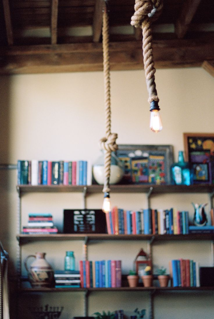 Rope Lights With The Exposed Ceiling And Elfa Shelving Loft Living, Trinity  Lofts, Downtown