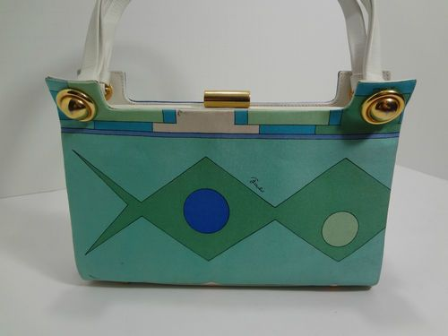 Vintage Emilio Pucci (1960's) Leather and Silk Handbag