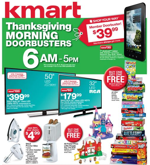 Top 35 Kmart Black Friday Deals 2013: Toys, Games and Kitchen Sets!