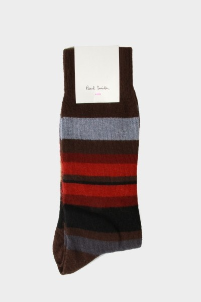 Paul Smith Lamora Stripe Socks Brown