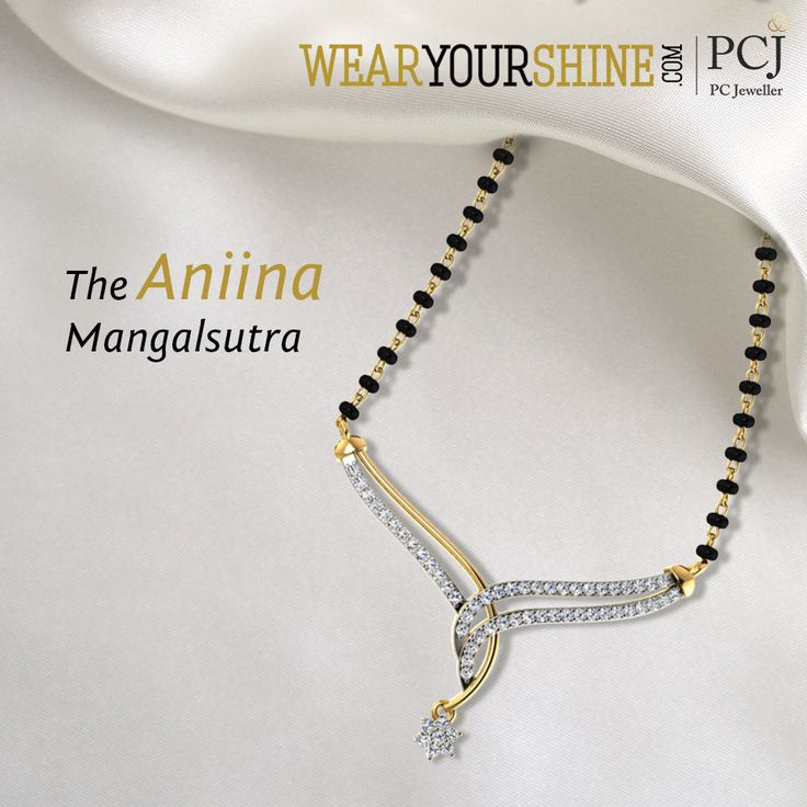 """The Aniina Mangalsutra"" by WearYourShine is the ultimate love forever.   #WearYourShine #Love #PCJeweller #Happiness #Wedding #Marriage #Fashion #Trends"
