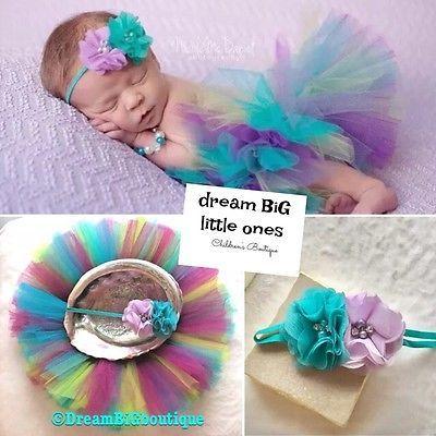 1st Baby Photo Spring set Tutu outfit US Boutique! Shower Gift Headband NB 3 Mon | eBay