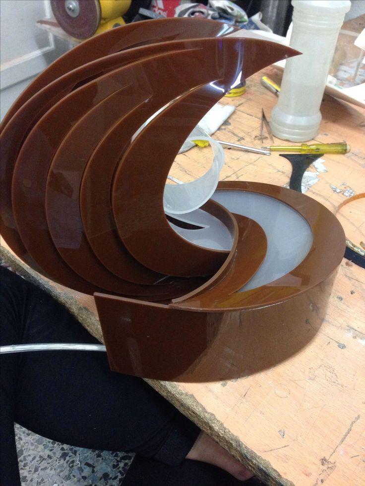 Final acrylic lamp/ Resultado final de lámpara en acrílico   Diseño- 1st. Semester