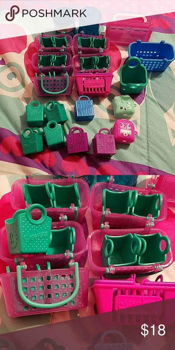 Lot of shopkins baskets Lots of 32 shopkins baskets and containers. Selling all as a lot for $18 shopkins  Other